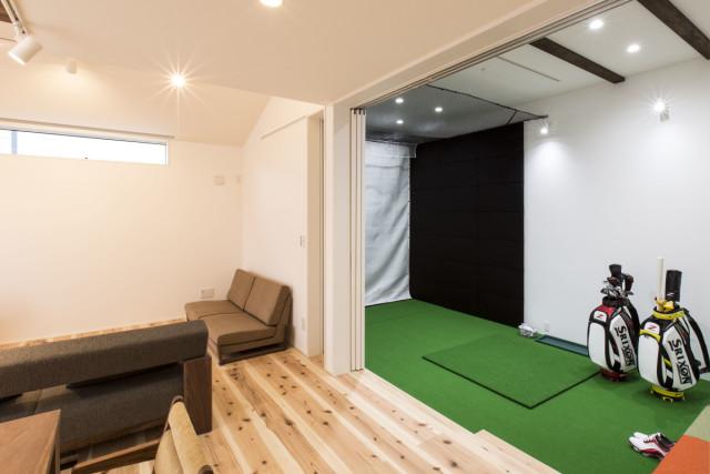 趣味を存分に楽しむ部屋づくり②ゴルフルームと書斎