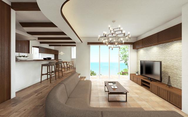 熱海の家、完成見学会②眺望を楽しむプラン