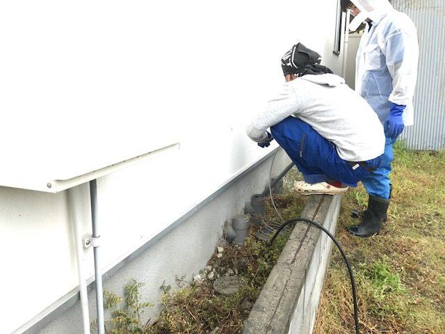 排水溝の高圧洗浄