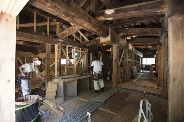 鎌倉の家の「梁」