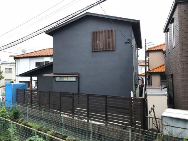 高座の家「ゆず肌ブラックの外観」
