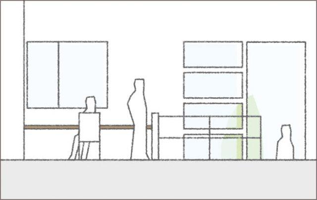 眺望を楽しむガレージハウス④「2Fフリースペース」