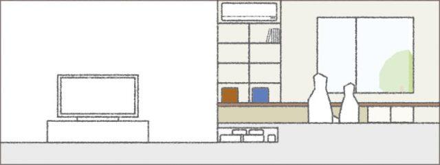 眺望を楽しむガレージハウス③「小上がり和室」