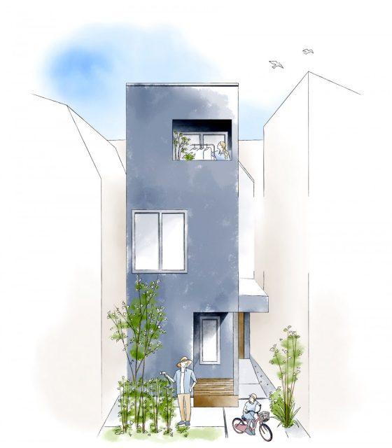 世田谷3階建ての家①「敷地を活かした家づくり」