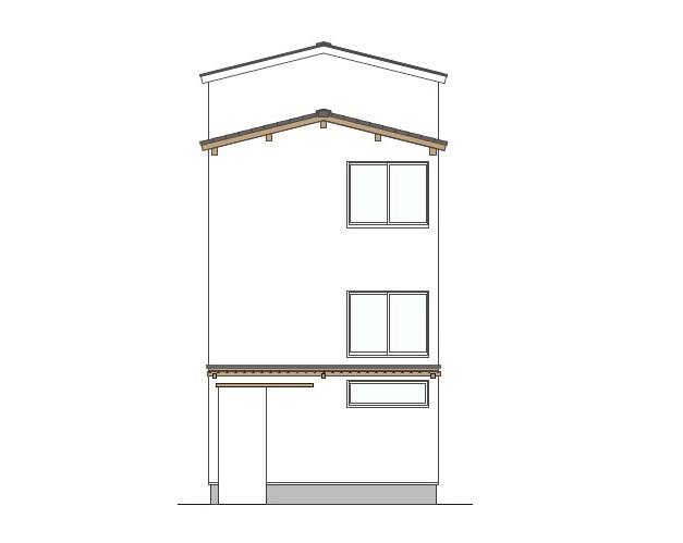 2階建て4層の家④「漆喰壁と木で演出する和の趣」