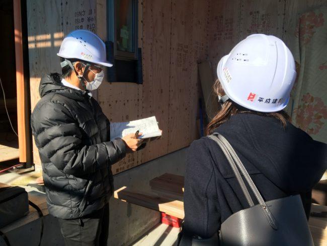 社員の一日に密着-住宅現場の構造確認-