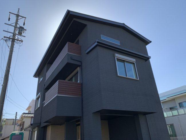 街中の3階建て二世帯⑦「現場の完成と色々な継手」